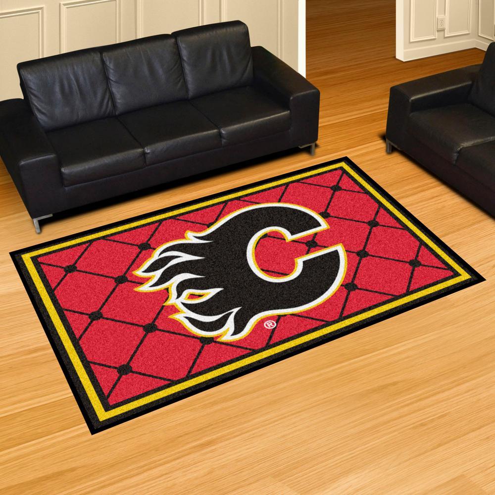 Fanmats Calgary Flames 5 Ft X 8