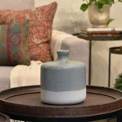 UTC51203: Green Gloss Ceramic Decorative Vase