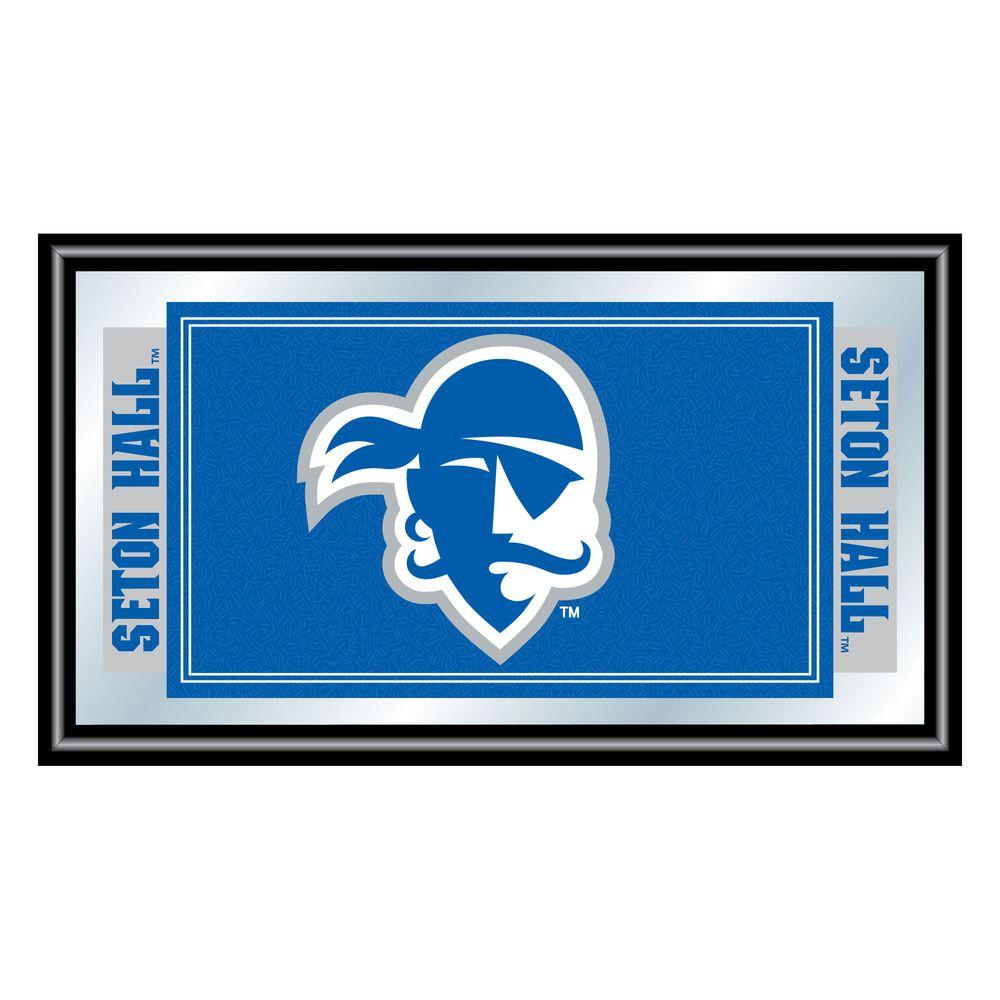 Seton Hall University 15 in. x 26 in. Black Wood Framed
