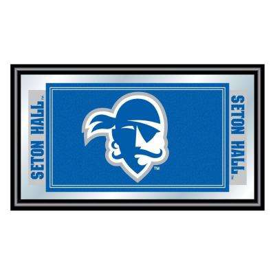 Seton Hall University 15 in. x 26 in. Black Wood Framed Mirror