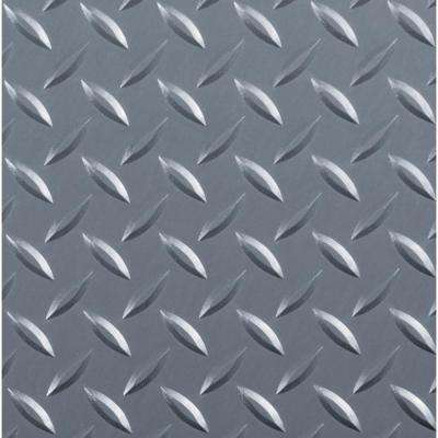 Diamond Tread 8.5 ft. x 22 ft. Slate Grey Commercial Grade Vinyl Garage Flooring Cover and Protector