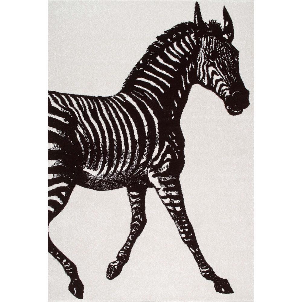 Nuloom Thomas Paul Zebra Black And White 8 Ft X 10 Ft