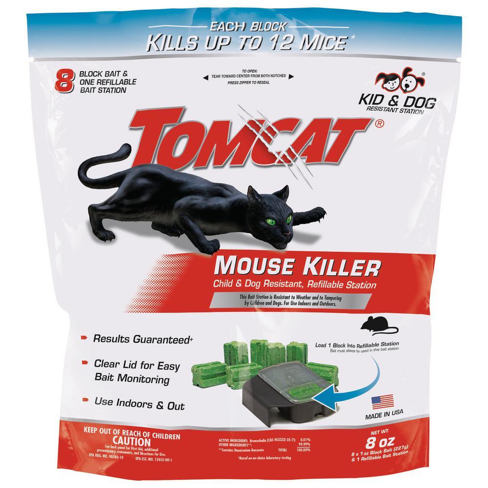 Tomcat Mouse Killer, Child & Dog Resistant, Refillable Station