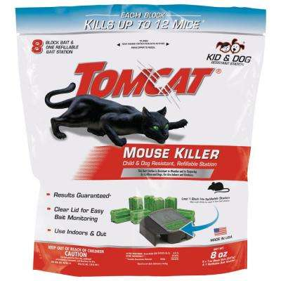 Mouse Killer Refillable Bait Station (4-Pack)