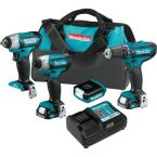 12-Volt MAX CXT Lithium-Ion Cordless 4-Piece Combo Kit (Driver-Drill/Impact Driver/Impact Wrench/Flashlight) 1.5 Ah