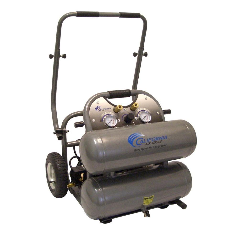 California Air Tools 4.6 Gal. 2 HP 150 psi Ultra Quiet and Oil-Free Air Compressor with Cart
