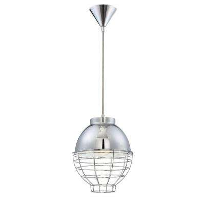 Brampton Collection 1-Light Chrome Pendant