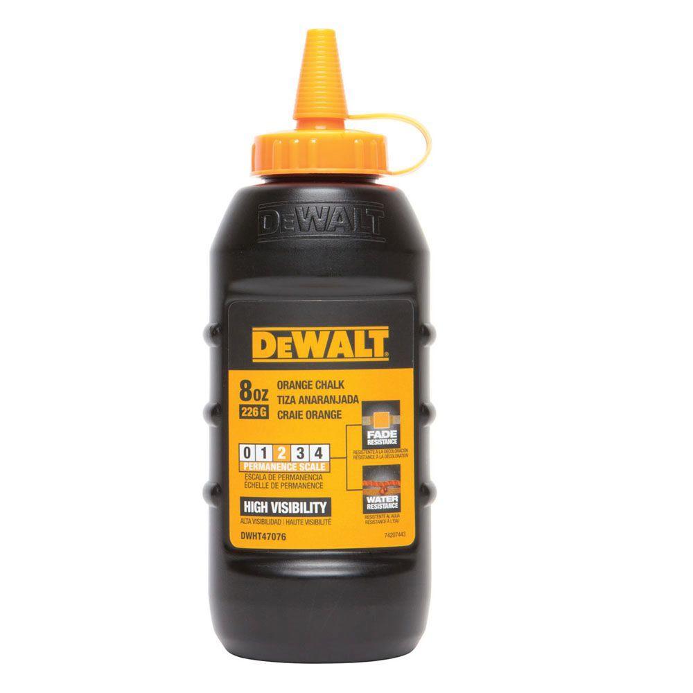 DEWALT 8 oz. Chalk in Orange