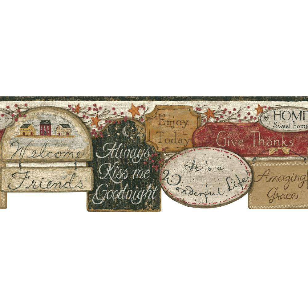 York Wallcoverings Inspired By Color It's A Wonderful Life Wallpaper Border