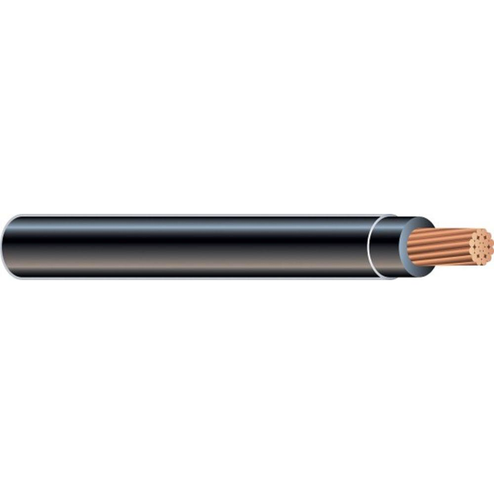 Southwire (By-the-Foot) 1 Black Stranded CU SIMpull THHN Wire