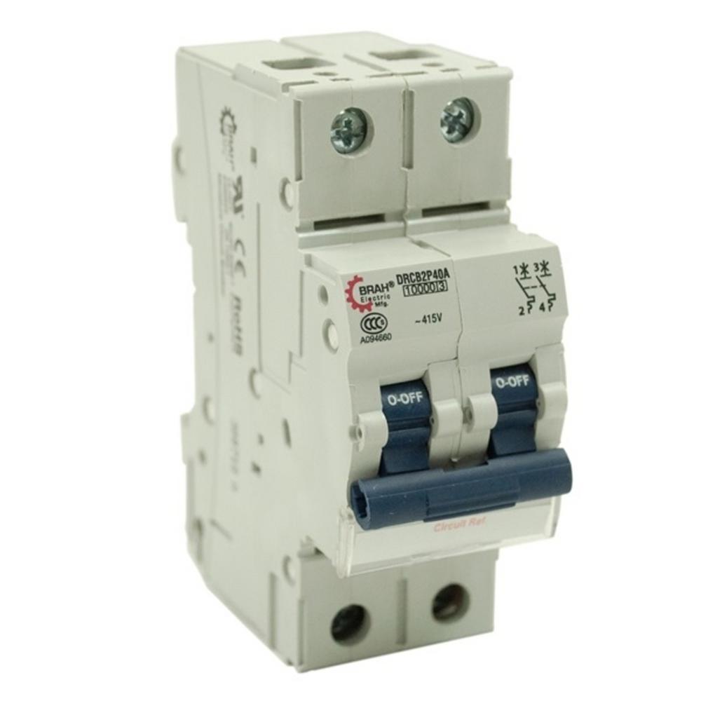 2-Pole 10 Amp Din Rail Circuit Breaker