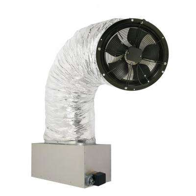 3242 CFM (HVI-916 Certified Rating) Whole House Fan Includes 2-Speed Remote Control w/Timer and R10 Cold Weather Damper