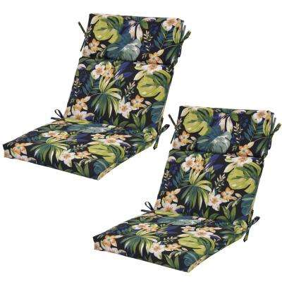 Caprice Tropical Outdoor Dining Chair Cushion 2 Pack
