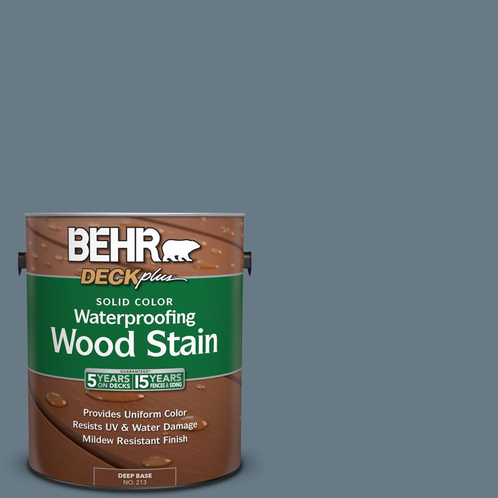 1 gal. #N490-5 Charcoal Blue Solid Color Waterproofing Wood Stain