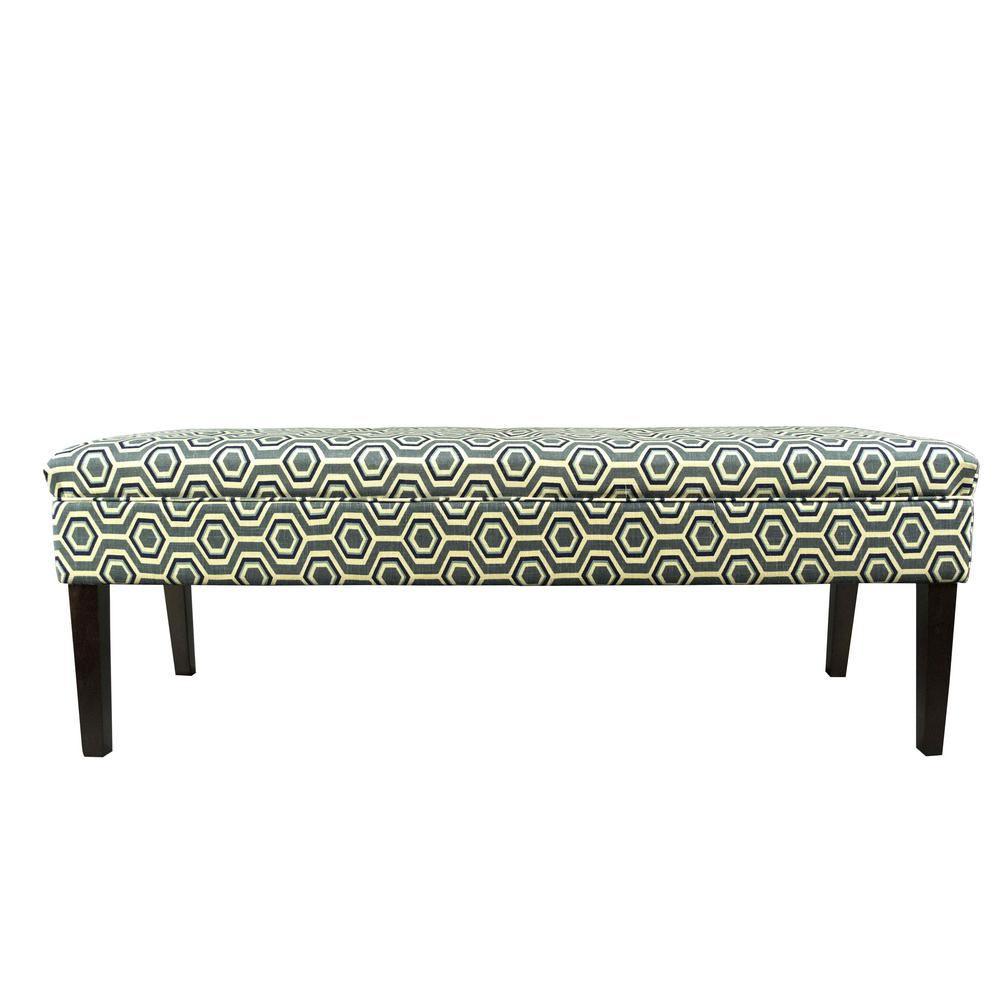 Kaya CotAsh Wedgewood Button Tufted Upholstered Bench