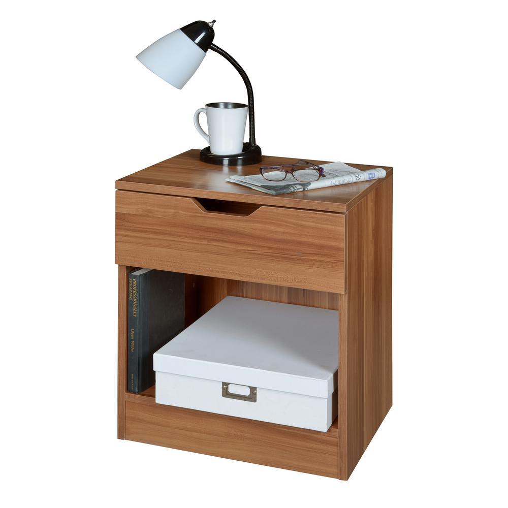 Regency Mod 1 Drawer Warm Cherry Nightstand Nns2116wc