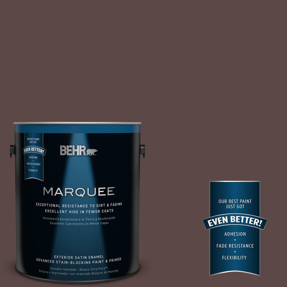 BEHR MARQUEE 1-gal. #MQ1-58 Chocolate Soul Satin Enamel Exterior Paint