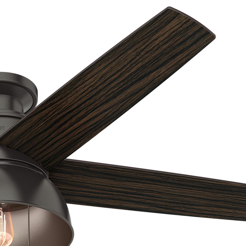 LED Indoor Outdoor Noble Bronze Ceiling Fan *NEW* HUNTER Bishop Hill 52 in
