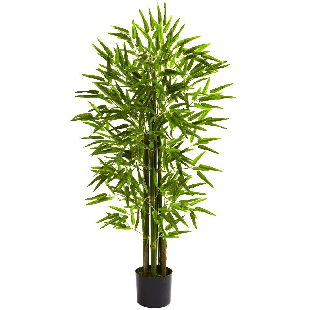 Nearly Natural 4 ft. UV Resistant Indoor/Outdoor Bamboo Tree