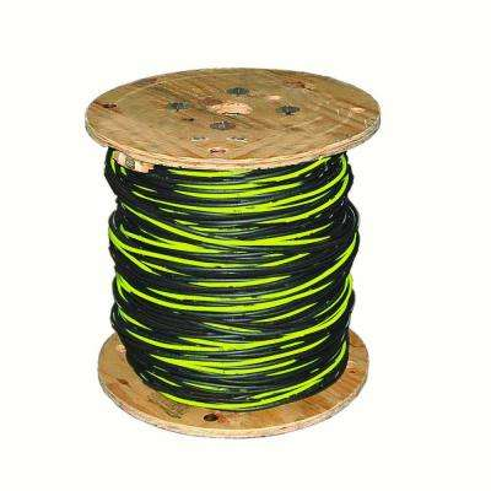 500 ft. 2-2-2-4 Black Stranded AL Quad Dyke URD Cable