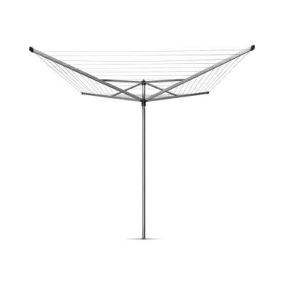 Brabantia Topspinner Rotary Clothesline with Ground Spike, 197ft. (60m)