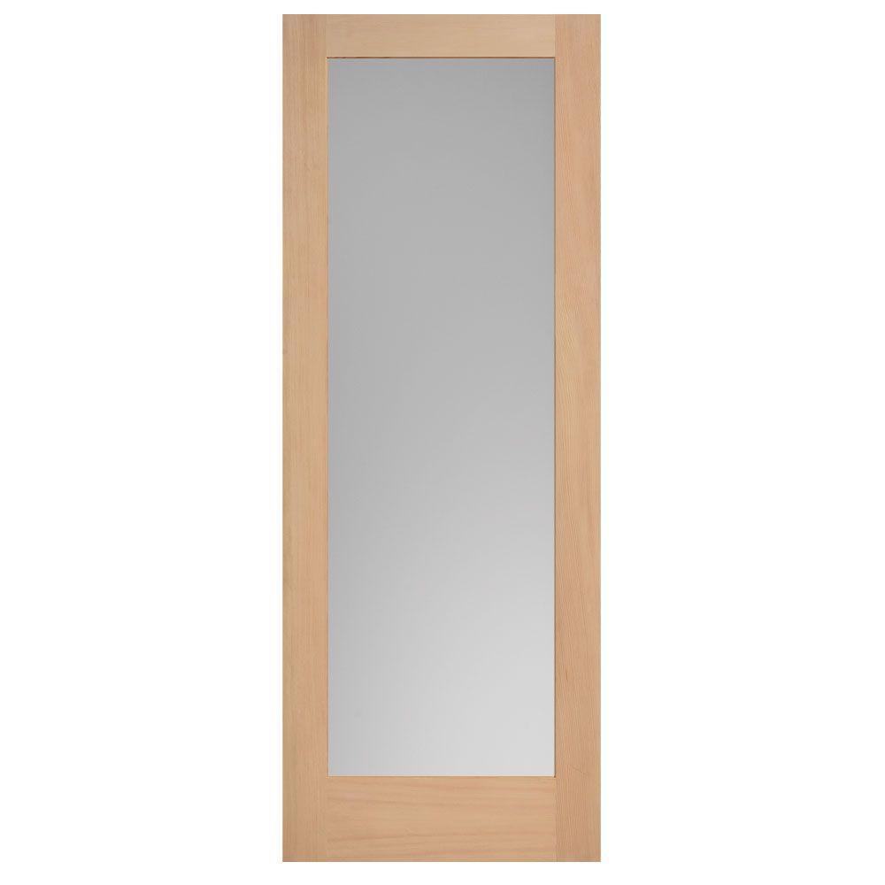 Masonite 40 in. x 84 in. Maple Veneer 1-Lite Solid Wood Interior Barn Door Slab