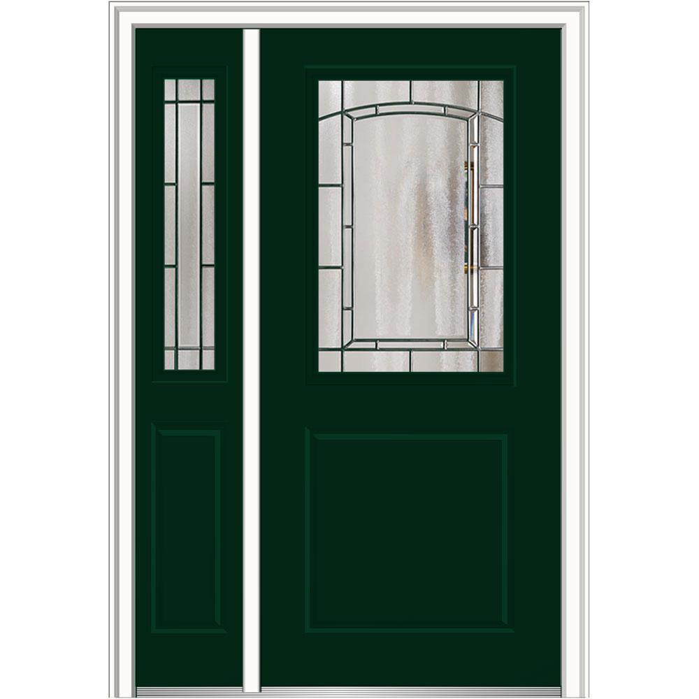 Green Fiberglass Doors Front Doors The Home Depot - Green front door