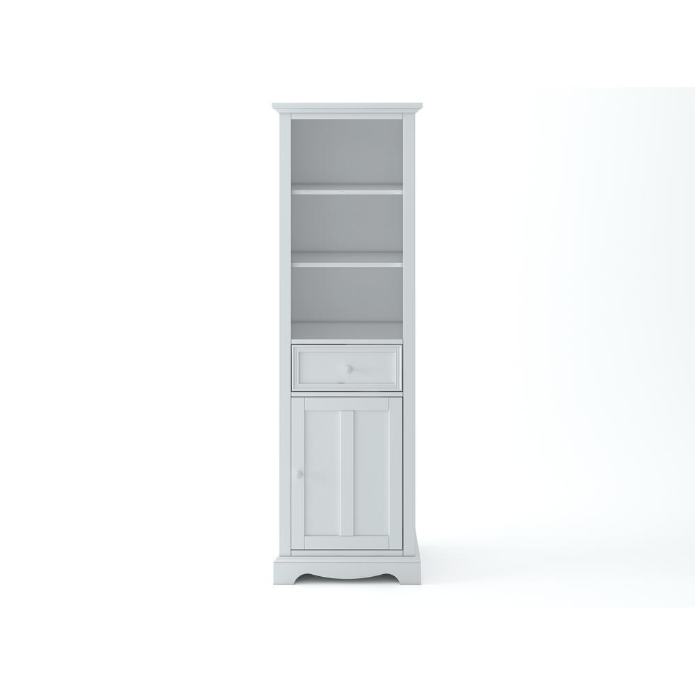 Fremont 20 in. W x 14 in. D x 65 in. H Linen Cabinet in White