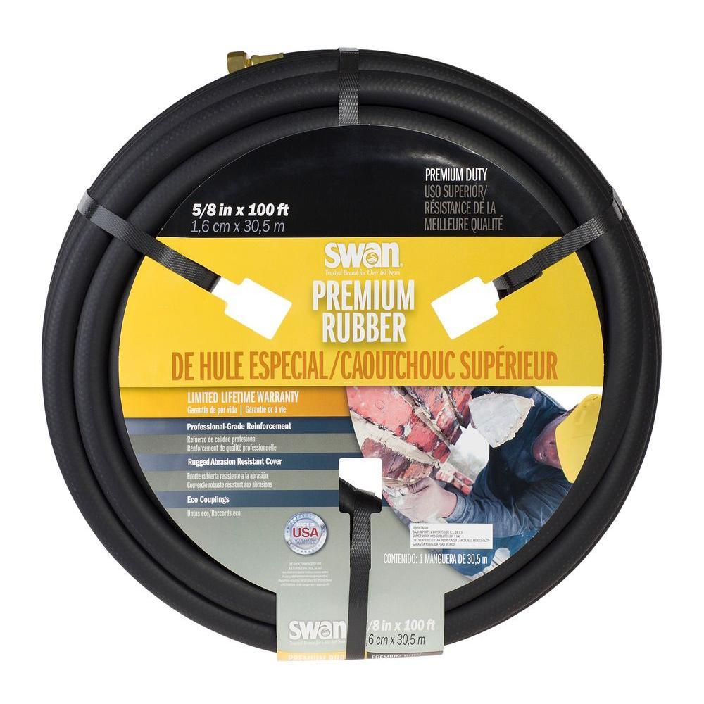 5/8 in. Dia x 100 ft. Premium Rubber Heavy Duty Water Hose