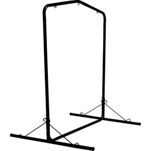 Pawleys Island 5.5 ft Wide Black Textured Large Steel Swing Stand by Pawleys Island
