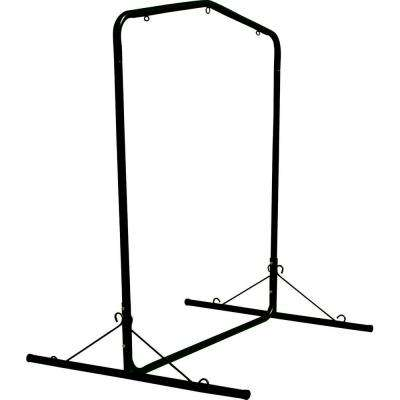 5.5 ft Wide Black Textured Large Steel Swing Stand