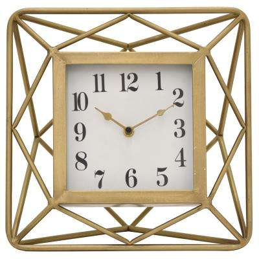 11.5 in. Metal Table Clock