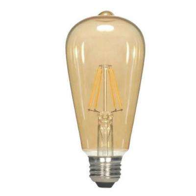 40W Equivalent Soft White ST19 Dimmable LED Light Bulb