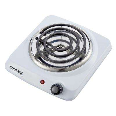 Electric Single Burner Hot Plate In White