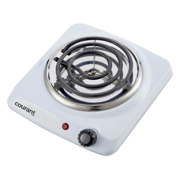 Courant Single Burner 5 in. White Hot Plate with Temperature Control