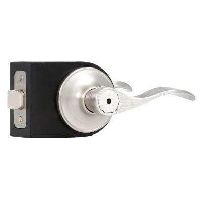 Springdale Satin Nickel Privacy Bed/Bath Door Lever