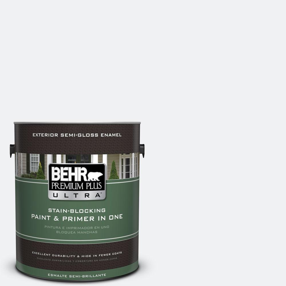 BEHR Premium Plus Ultra 1-gal. #610E-1 Windmill Wings Semi-Gloss Enamel Exterior Paint