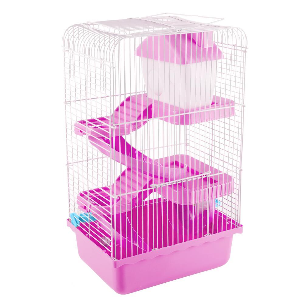 Pink Hamster Cage Habitat