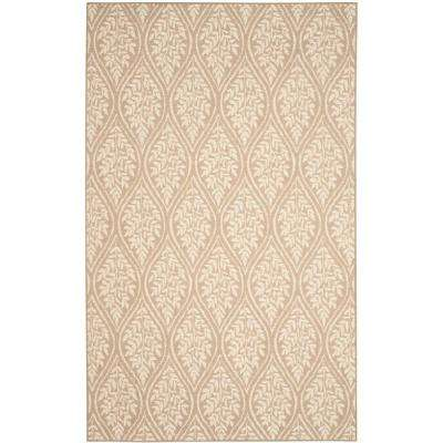 Palm Beach Sand/Natural 9 ft. x 12 ft. Area Rug
