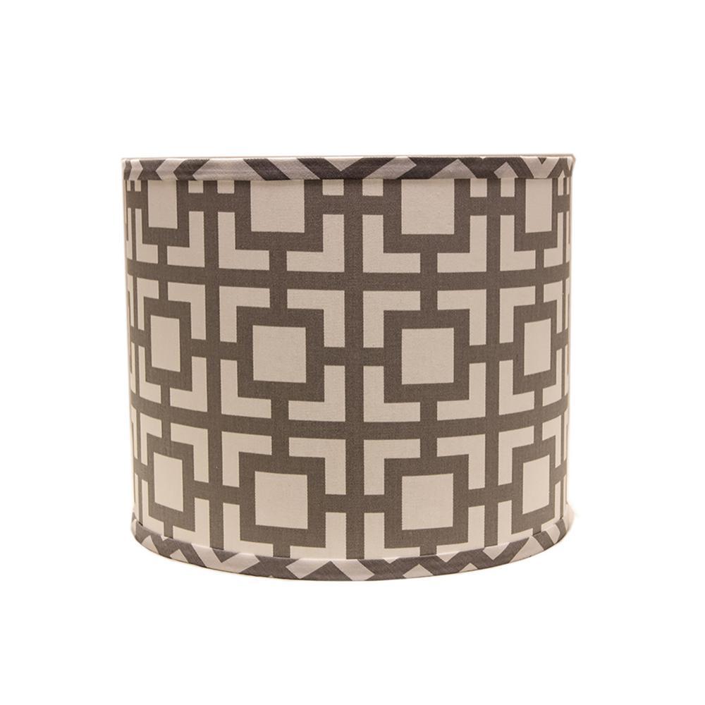 12 in. x 11 in. Gray Lamp Shade