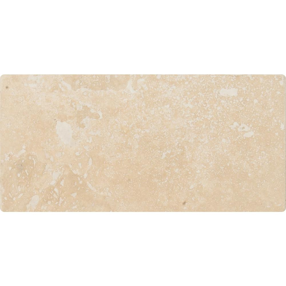 MSI Ivory 3 in. x 6 in. Honed Travertine Floor and Wall Tile (100 cases / 100 sq. ft. / pallet)