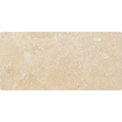 Ivory 3 in. x 6 in. Honed Travertine Floor and Wall Tile (100 cases / 100 sq. ft. / pallet)