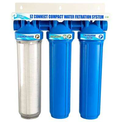 EZ-Connect Compact Whole House Water Filtration System and Water Softener Alternative Combo