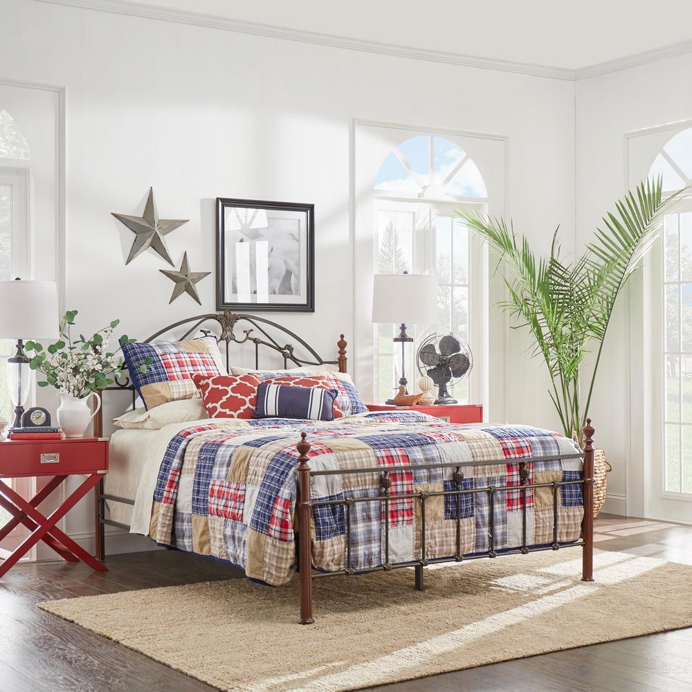 Black & Brown King Bed Frame