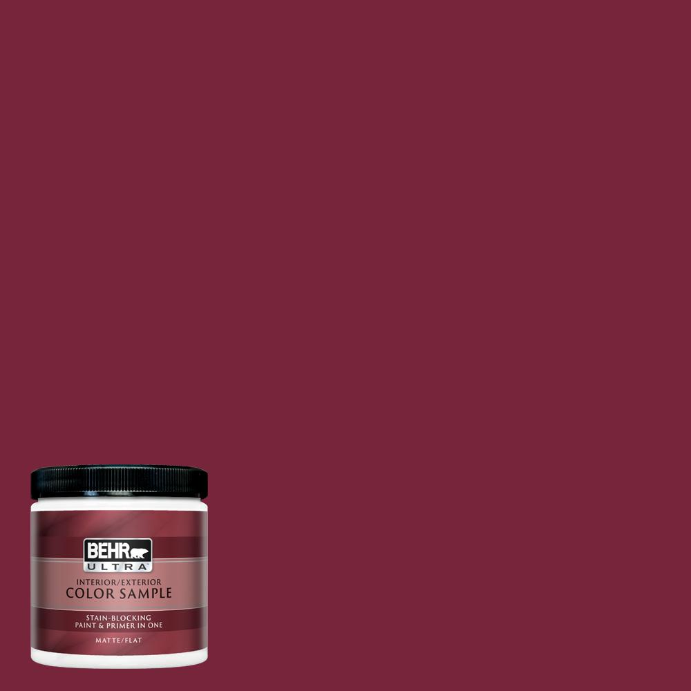 Behr Ultra 8 Oz Ul100 4 Cranberry Matte Interior Exterior Paint And Primer In One Sample