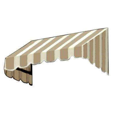 25 ft. San Francisco Window/Entry Awning (44 in. H x 48 in. D) in Linen/White Stripe