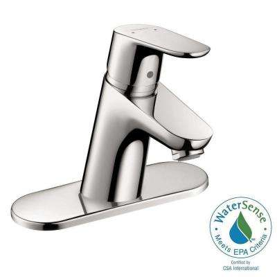 Focus 70 Single Hole 1-Handle Low-Arc Bathroom Faucet in Chrome
