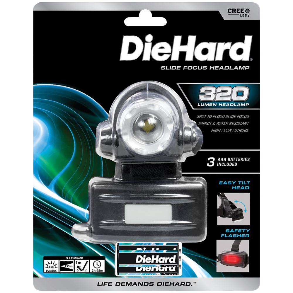 320 Lumens Slide Focus Headlamp