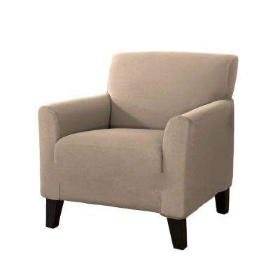 Dawson Collection Tan Twill Form Fit Chair Slipcover