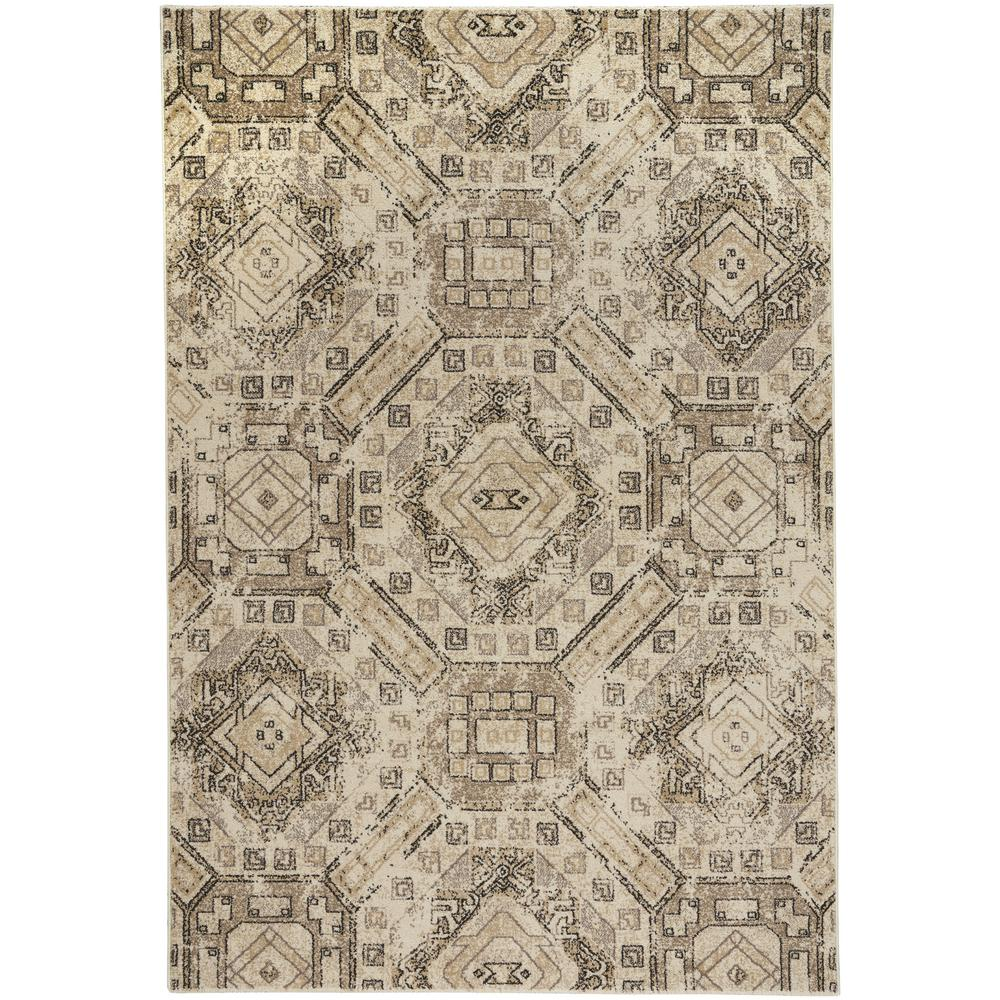 Channel Beige 3 ft. 11 in. x 5 ft. 6 in. Area Rug